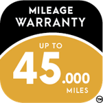 Accelera Up To 45,000 Miles Warranty Icon
