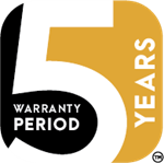 Accelera 5 Year Warranty Period Icon